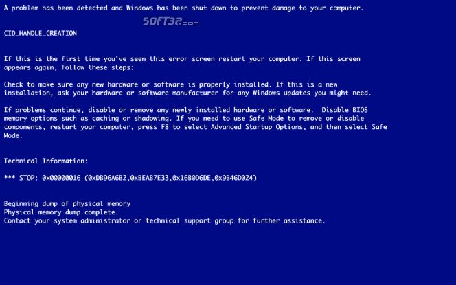 BSOD! Screenshot