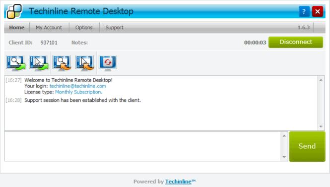 Techinline Remote Desktop Screenshot