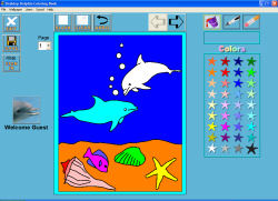 Desktop Dolphin Coloring Book Screenshot