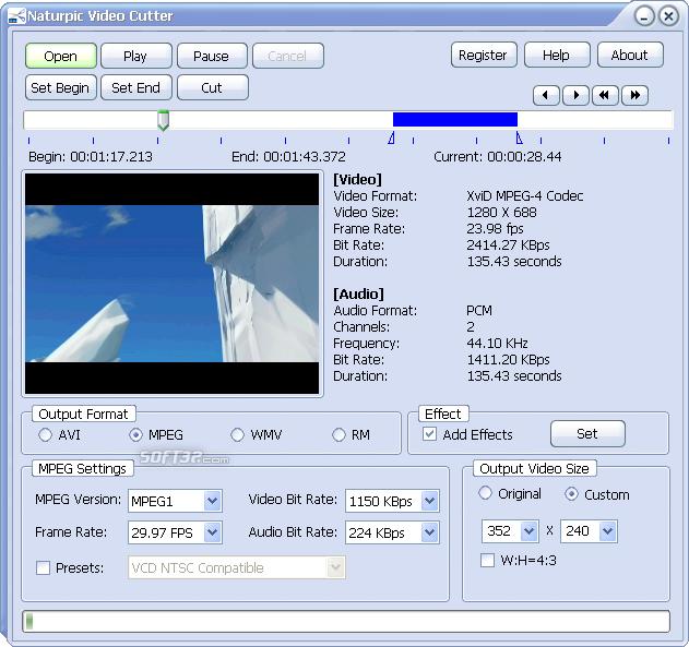 Naturpic Video Cutter Screenshot 4
