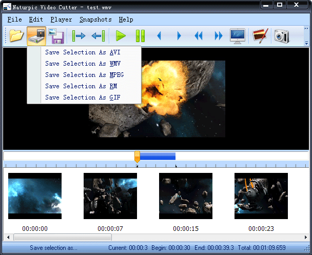 Naturpic Video Cutter Screenshot