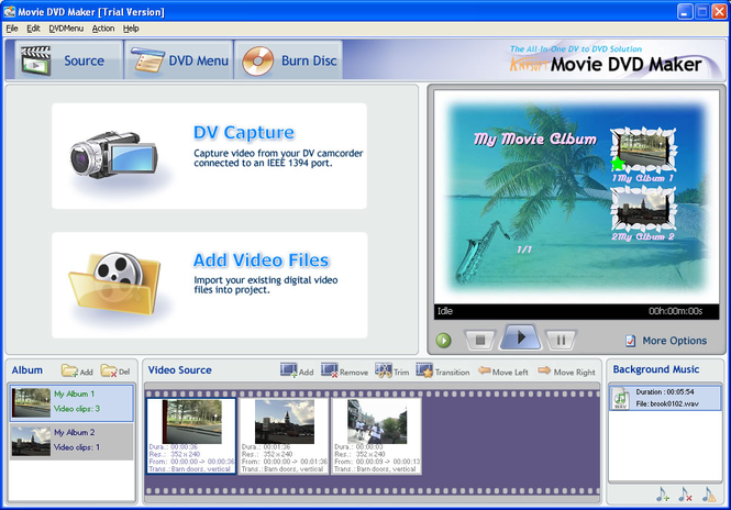 AnvSoft Movie DVD Maker Screenshot 1