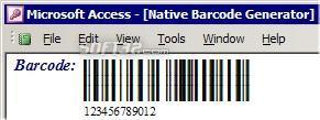 Barcode Generator for Microsoft Access Screenshot 2