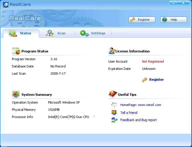 RealCare Screenshot