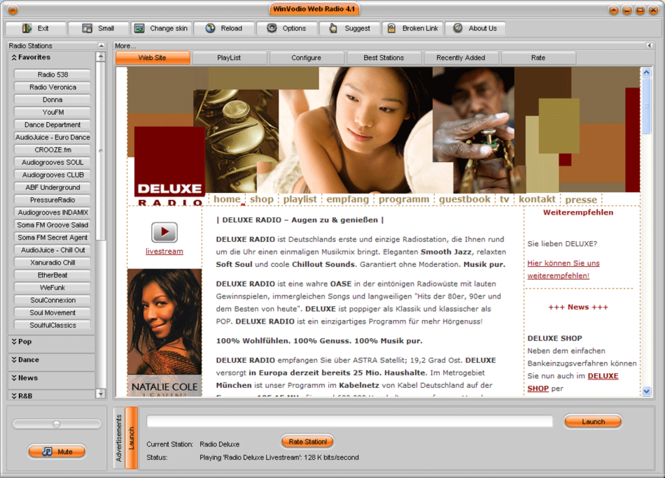 WinVodio WebRadio Screenshot