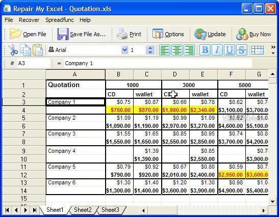 Repair My Excel Screenshot 2