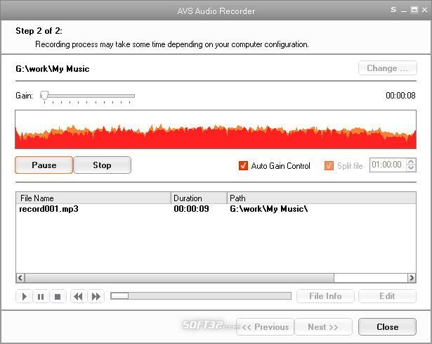 AVS Audio Recorder Screenshot 2