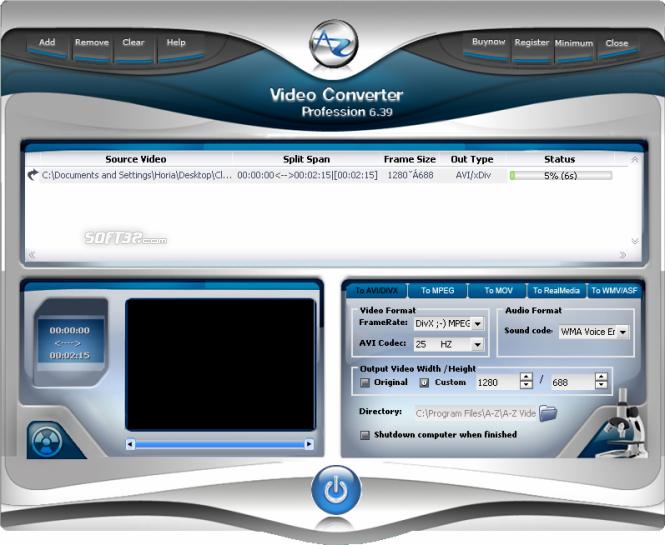 A-Z Video Converter Profession Screenshot 2