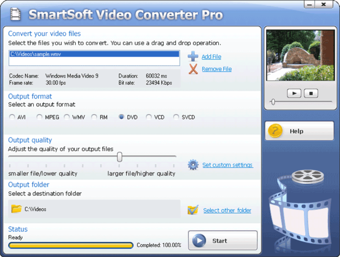 #1 SmartSoft Video Converter Pro Screenshot 1