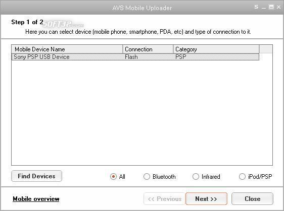 AVS Mobile Uploader Screenshot 2