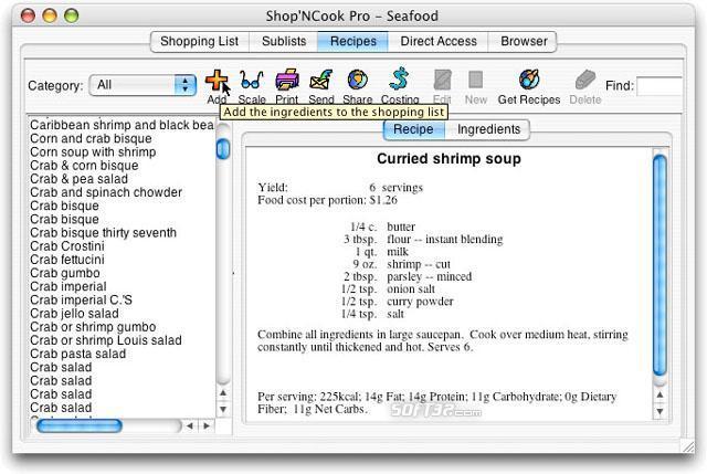 Shop N Cook Pro for Mac Screenshot 2
