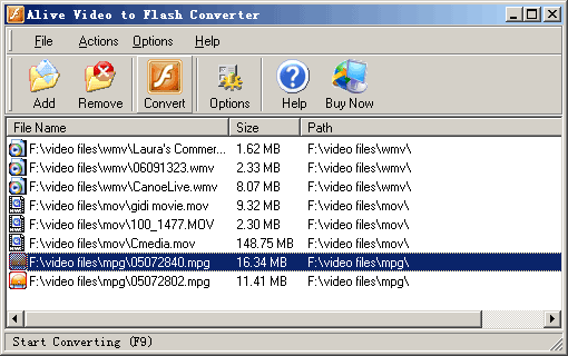 Alive Video to Flash Converter Screenshot