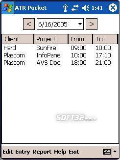 Advanced Time Reports Pocket Screenshot 3