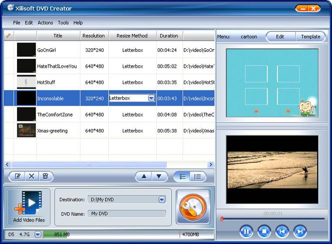 Xilisoft DVD Maker Suite Screenshot
