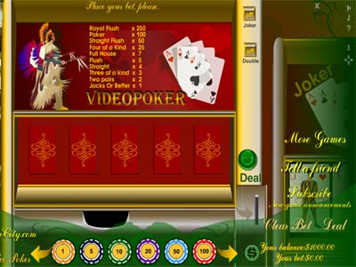 MyPlayCity Video Poker Screenshot