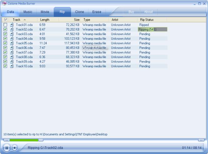 Cistone Media Burner Screenshot 2
