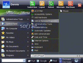 Vista Start Menu Screenshot 3