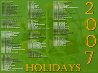 2007 Holidays Screensaver Screenshot