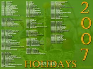 2007 Holidays Screensaver Screenshot 3