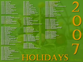 2007 Holidays Screensaver 2