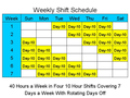 10 Hour Schedules for 7 Days a Week 1