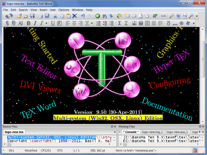 BaKoMa TeX Screenshot 1