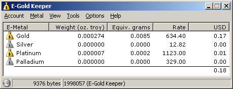 E-Gold Keeper Screenshot 1