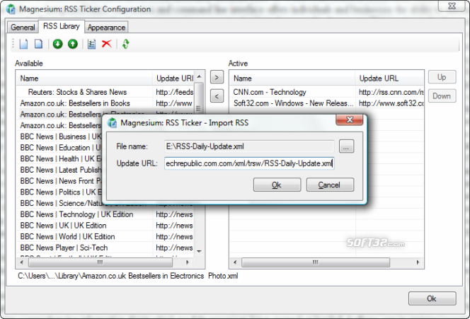 Magnesium: RSS 2.0 Ticker Screenshot 3