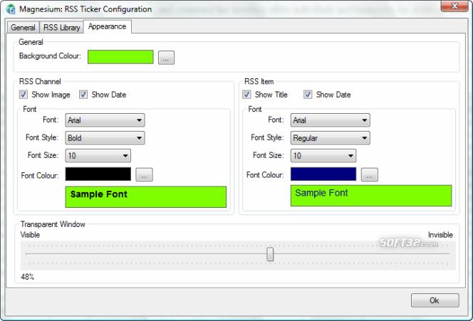 Magnesium: RSS 2.0 Ticker Screenshot 4