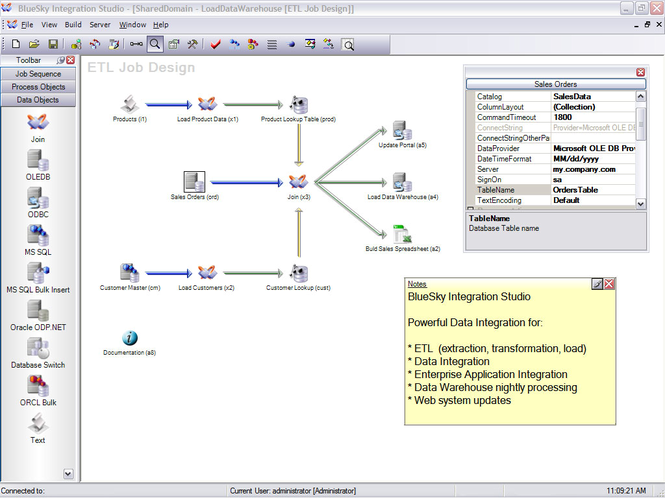 BlueSky Integration Studio Screenshot