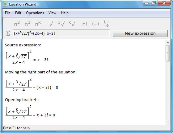 Equation Wizard Screenshot 1