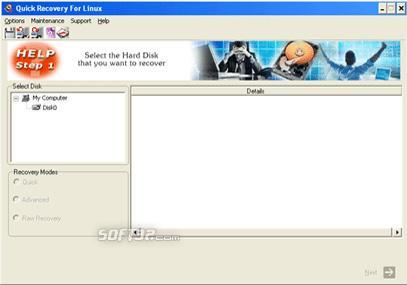 A Data Recovery Software- QR for Linux Screenshot 2