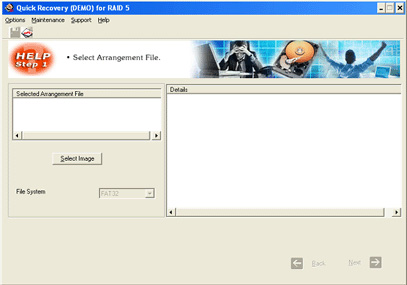 A Data Recovery Software-Q R for RAID 5 Screenshot 1