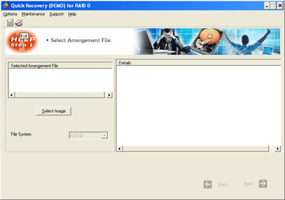 A Data Recovery Software- Q R for RAID 0 Screenshot