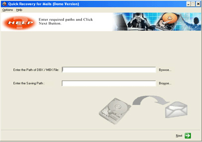 A Data Recovery Software- Q R for Outlook Express Screenshot