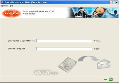 A Data Recovery Software- Q R for Outlook Express Screenshot 2