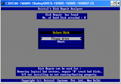 Disk Repair Software Screenshot