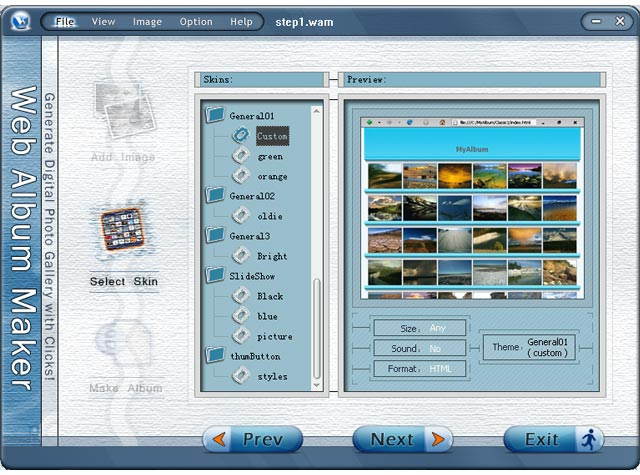 Web Album Maker Screenshot