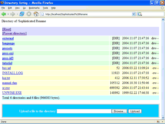 Acritum Femitter HTTP-FTP Server Screenshot 1