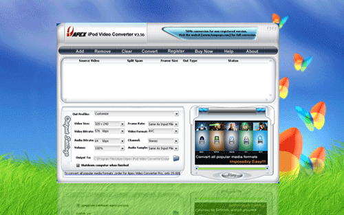 Apex iPod Video Converter Screenshot