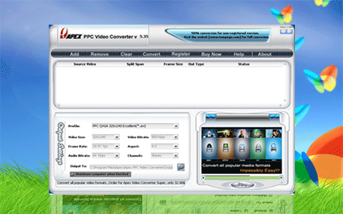 Apex Free Pocket PC Video Converter Screenshot