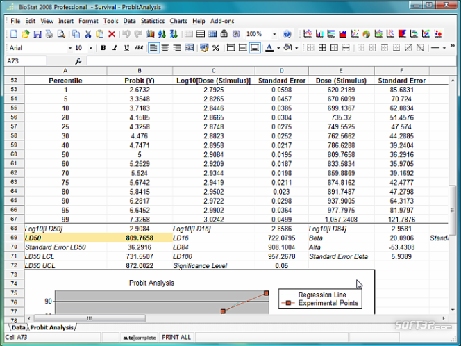 BioStat 2009 Screenshot 3