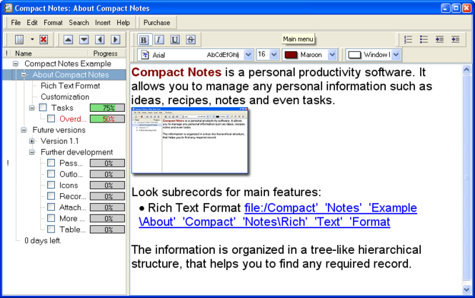 Compact Notes Screenshot