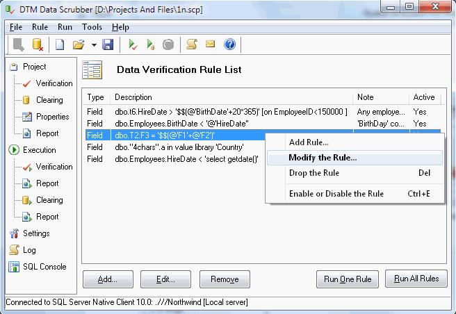 DTM Data Scrubber Screenshot