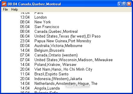 NTP Time Zone Clock Screenshot 6