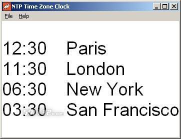 NTP Time Zone Clock Screenshot 3