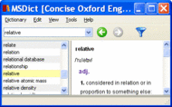 Concise Oxford English Dictionary Win Screenshot