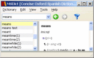 Concise Oxford Spanish Dictionary Win Screenshot