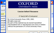 Concise Oxford Thesaurus for Windows Screenshot