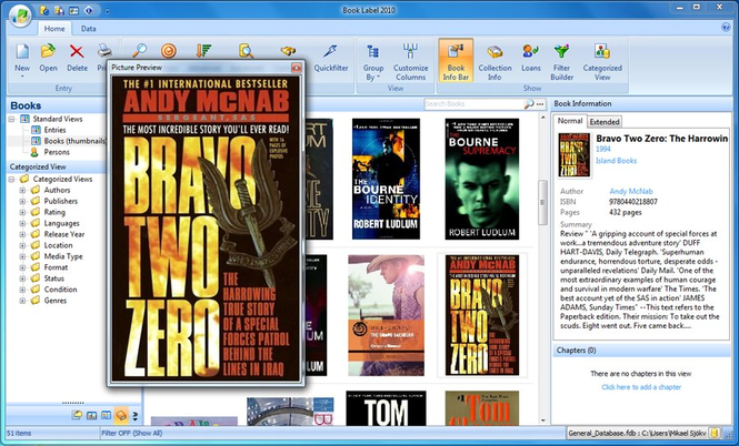 Book Label 2009 Screenshot